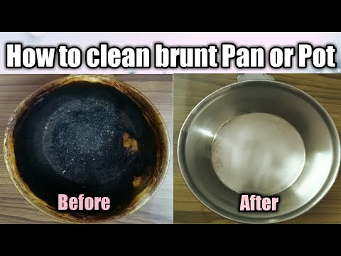 How to clean brunt Pan/Pot or Bowl | Easy Household Tricks