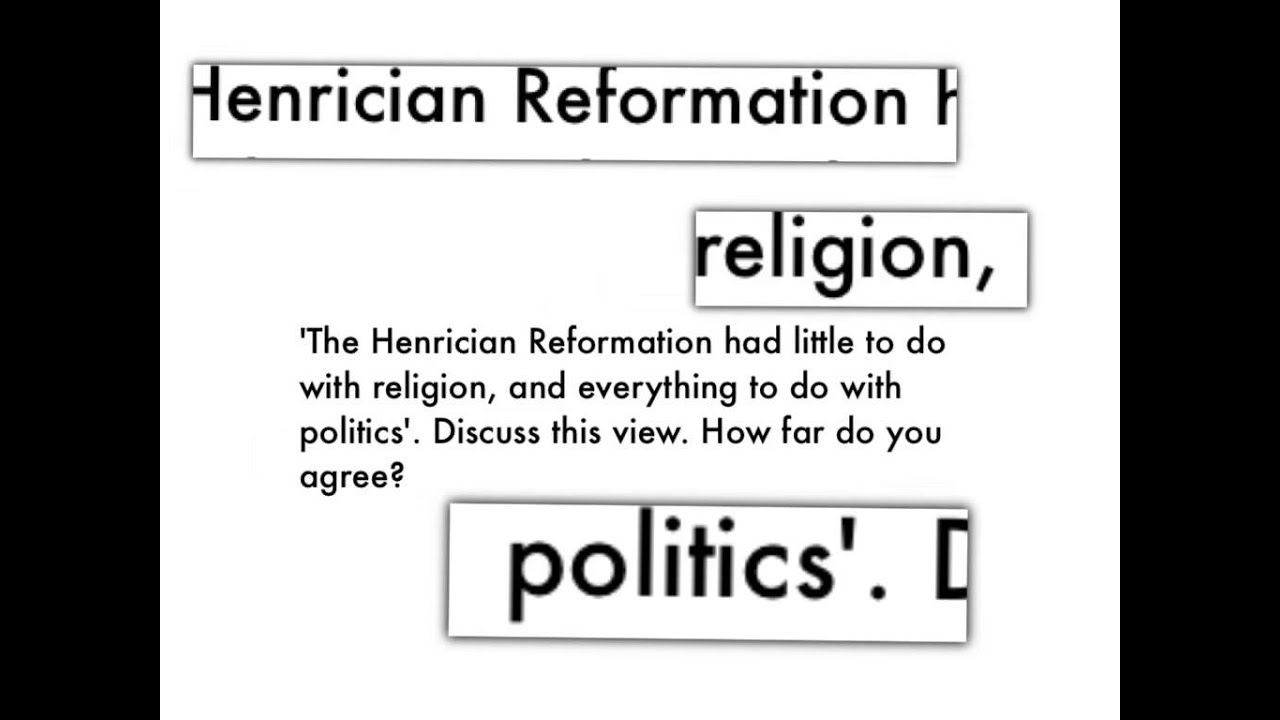 Essay Guidance  Henry Viii And The Reformation  Youtube Essay Guidance  Henry Viii And The Reformation
