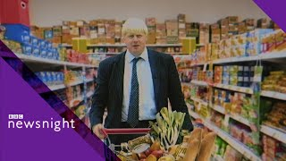 Boris Johnson goes undercover in a supermarket (1998) - BBC Newsnight