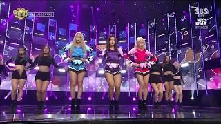 LOONA (이달의 소녀) ODD EYE CIRCLE – 'Girl Front' @ Inkigayo 171008
