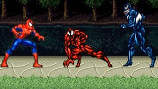 Amazing Spider-Man (SNES) All Bosses (No Damage)