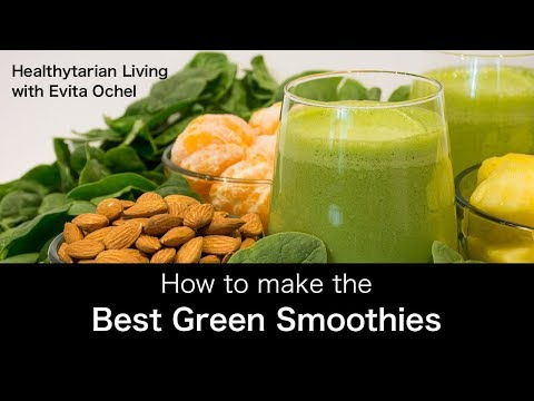 How to Make a Green Smoothie — 5 Step Template (whole food vegan, oil-free)