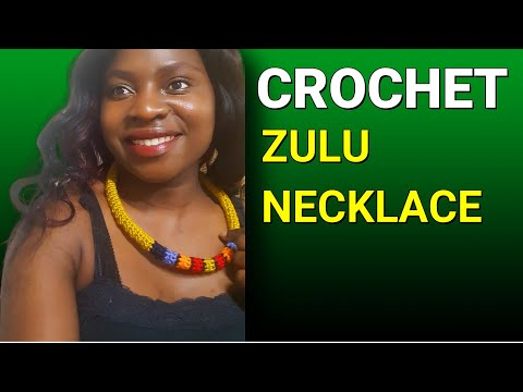 HOW TO MAKE DIY CROCHET NECKLACE For Beginners | Crochet Necklace Tutorial # 4