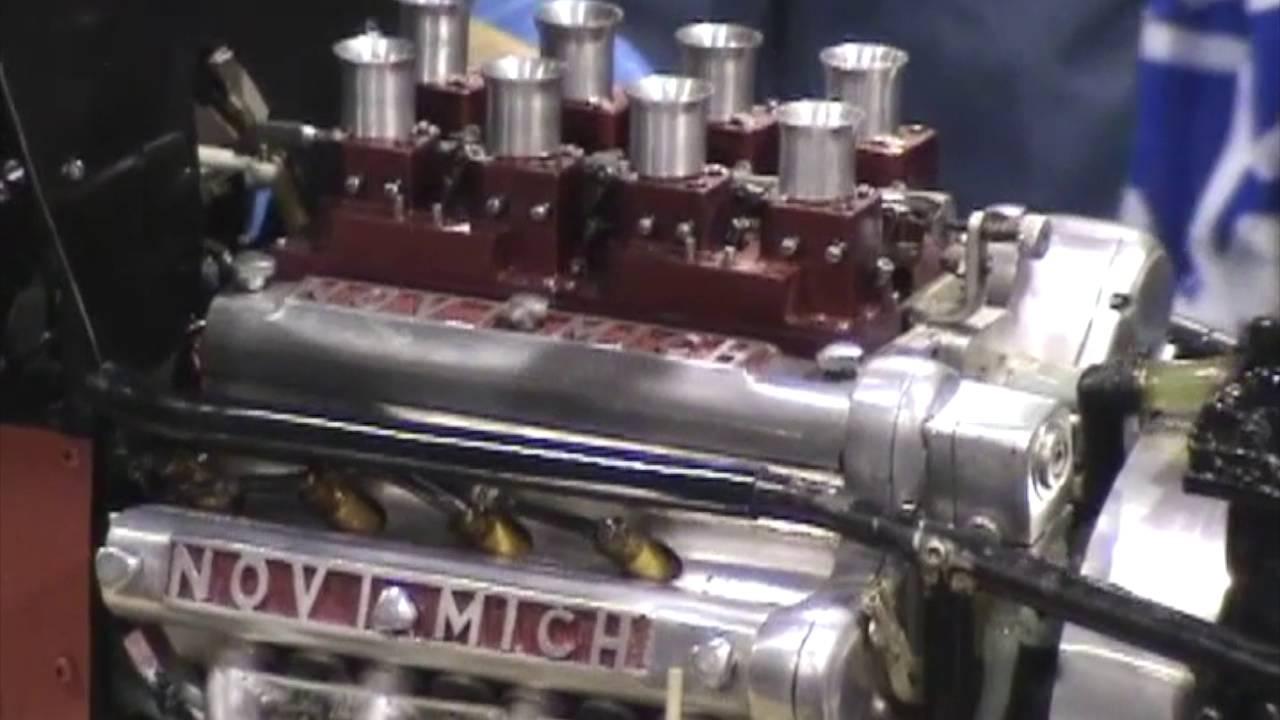 medium resolution of jim riggle model novi v8 engine test run