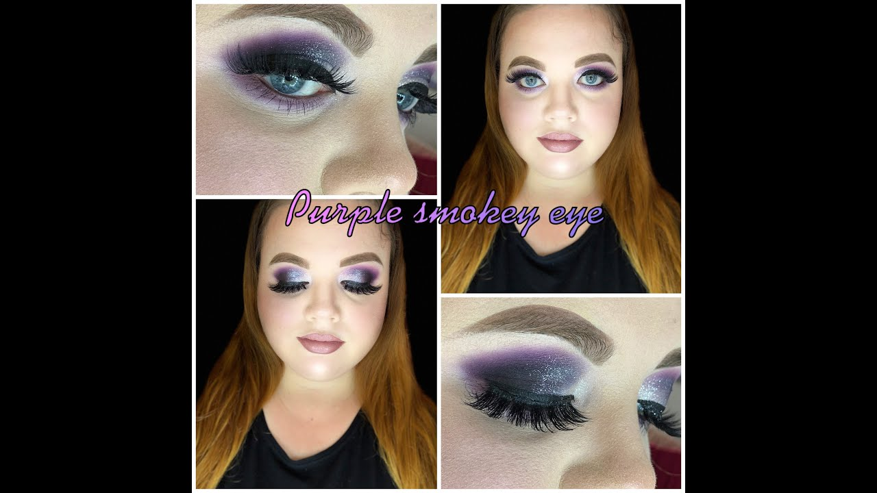 Dark Purple Smokey Eye  Haileys Makeup Room - YouTube