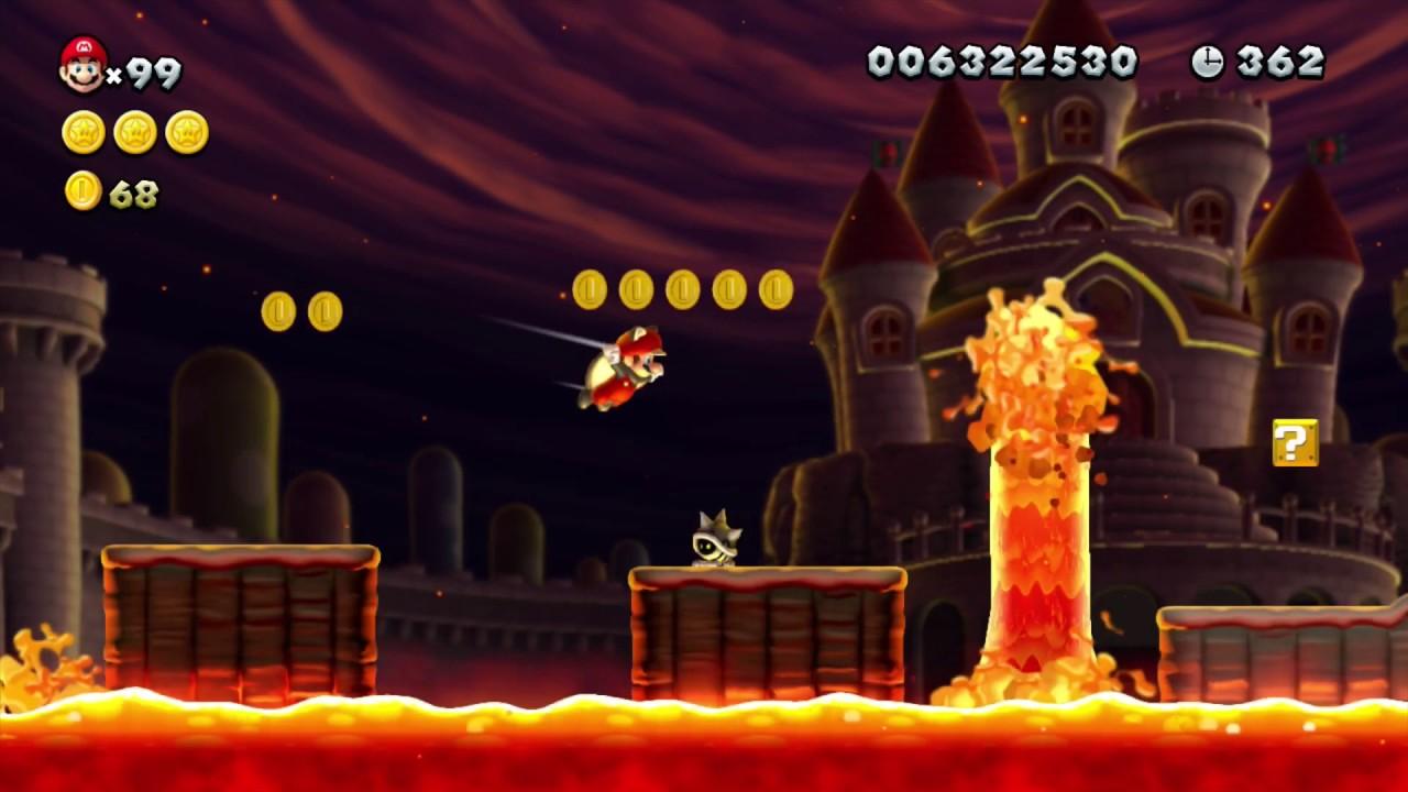 New Super Mario Bros U Peach S Castle 1 Meteor Moat Secret