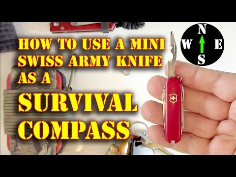 Use A Swiss Army Knife As A Compass