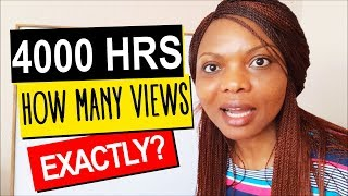 4000 HOURS: How many views EXACTLY make 4000 hours for YouTube Monetization?