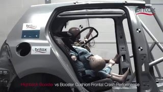 BRITAX Highback Booster vs Booster Cushion Crash Test