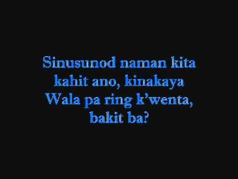bakit ba lyrics by:siak0l