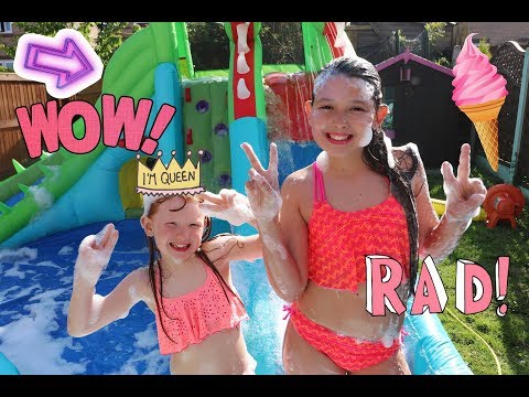 WATER SLIDE FOAM PARTY!! - 동영상