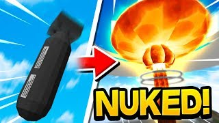 The Power Of The Nuclear Missile!  | Minecraft WAR #82