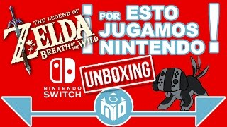 Orgullosos de ser Nintenderos -  Unboxing Nintendo Switch y Zelda Breath of the Wild| NDeluxe