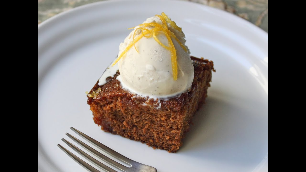 Gingerbread Cake with Lemon Glaze - Christmas Gingerbread Dessert