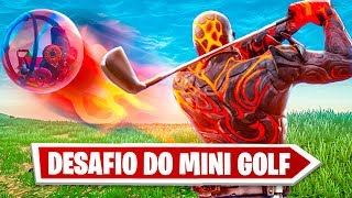 DESAFIO DO MINI GOLF COM BOLA DE HAMSTER NO FORTNITE! ‹ JUAUM ›