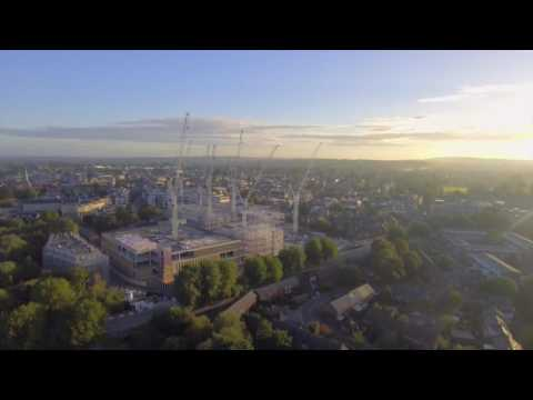 Oxford - City of dreaming cranes (and a few spires) - aerial video..