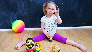 Five Little Babies Jumping on the Bed | Colors Song with Balls | Best Children Nursery Rhymez