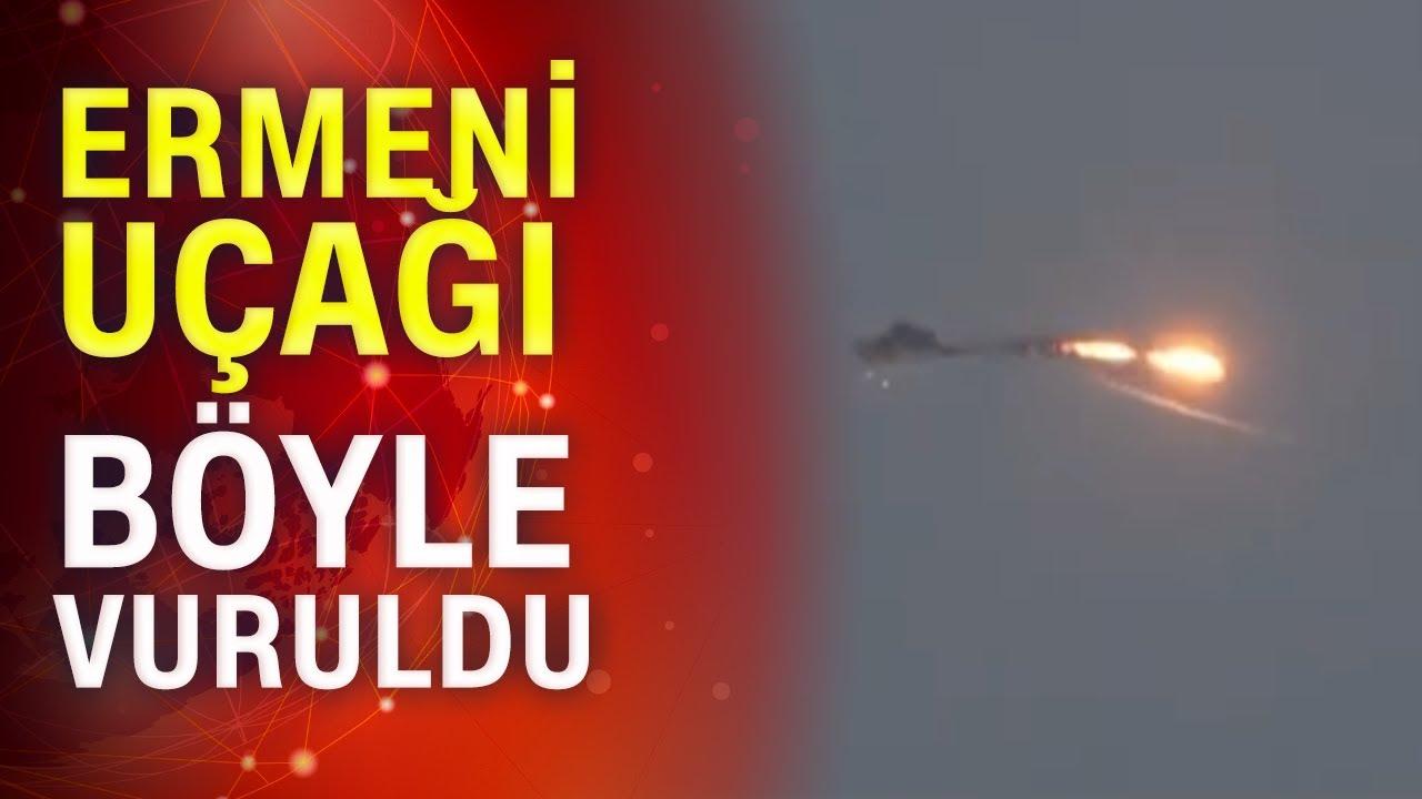 Ermeni İHA'sının vurulma anı!