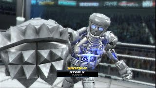REAL STEEL THE VIDEO GAME - NEW ROBOT: AGAINST ALL (ATOM X vs NOISY BOY & TWIN CITIES)