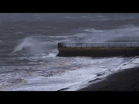 Hurricane Ophelia hits Carlingford Lough - Storm in Warrenpoint