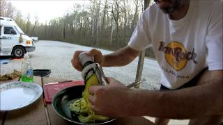 Rv Cooking - Chicken & Zucchini Using Veggetti Slicer