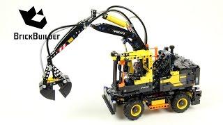 lego Technic 42053 Volvo EW 160E - Lego Speed Build Review