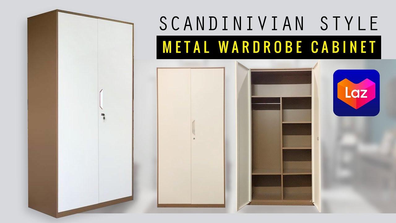 Scandinivian Metal Wardrobe Cabinet Sa Lazada Youtube