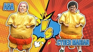 Sumo, Slime i koło wyzwań! - Challenge z Cyber Marianem    Agnieszka Grzelak Vlog
