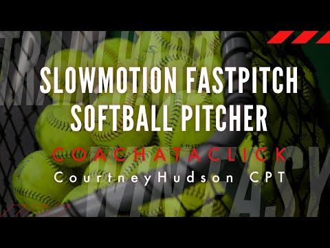 Slow Motion Fastpitch Softball Pitcher