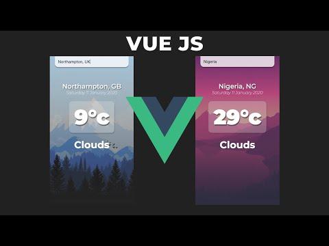 Build a Weather App in VueJS | VueJS Beginner Tutorial