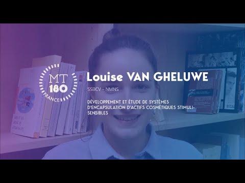 Louise VAN GHELUWE - Ma Thèse en 180 secondes 2020