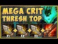 WTF?? TRIPLE IE THRESH 100% DEALS TOO MUCH DAMAGE! THRESH SEASON 9 TOP GAMEPLAY! - League of Legends