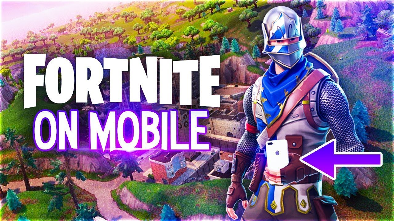 PLAYING FORTNITE ON MOBILE!? - YouTube