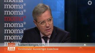 ARD: Рёттген: Россия -- военный преступник. Необходимо ввести новые санкции.