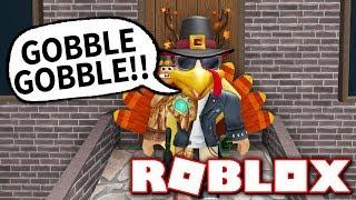 I AM A THANKSGIVING TURKEY!! (Roblox Murder Mystery 2)