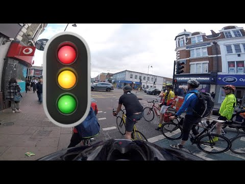 Red light jumping cyclists are the worst!