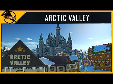 Arctic Valley [Christmas Theme Park] | Planet Coaster Premiere | 4Kᵁᴴᴰ