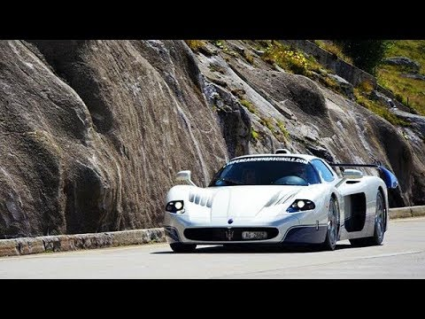 Maserati MC12 driving in the Swiss Alps - Hard Accelerations!