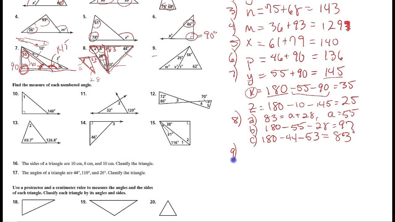 worksheet Geometry Practice geometry 3 4 practice youtube practice