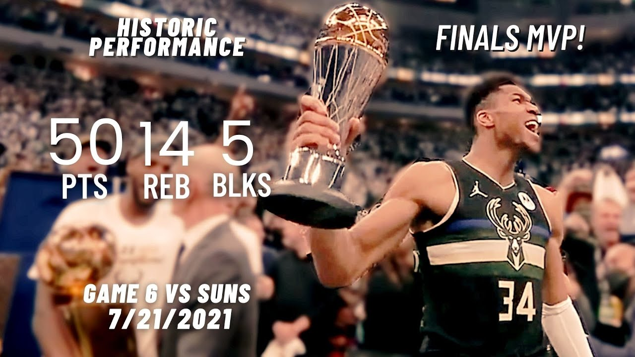 Download Giannis Antetokounmpo 50 Pts, 14 Rebs, 5 Blks vs Suns | FULL Highlights - Finals MVP!