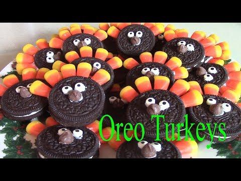 Fun Thanksgiving Treats kids Love! Oreo Turkeys