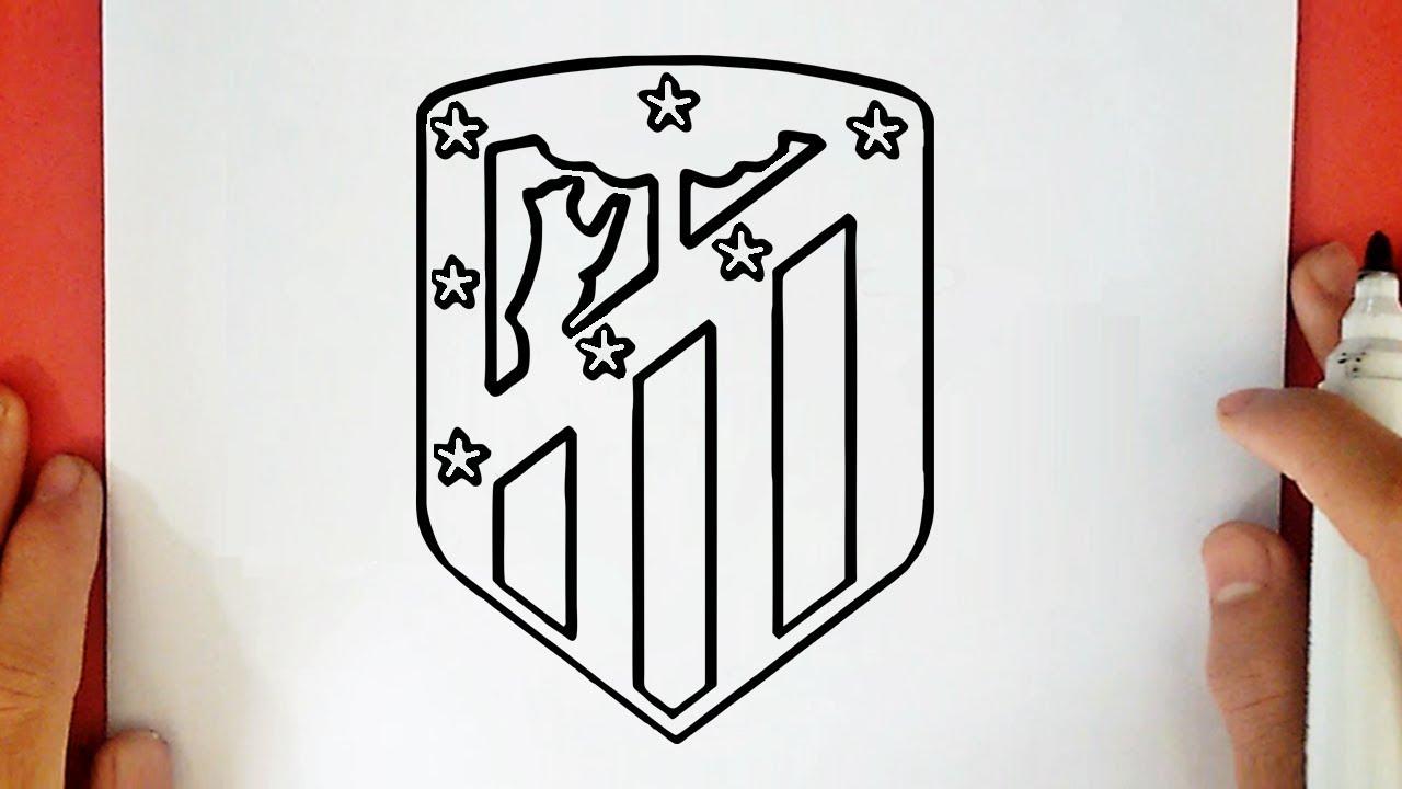 Dibujos Escudos De Futbol Para Colorear: COMO DIBUJAR EL ESCUDO DEL ATLÉTICO DE MADRID