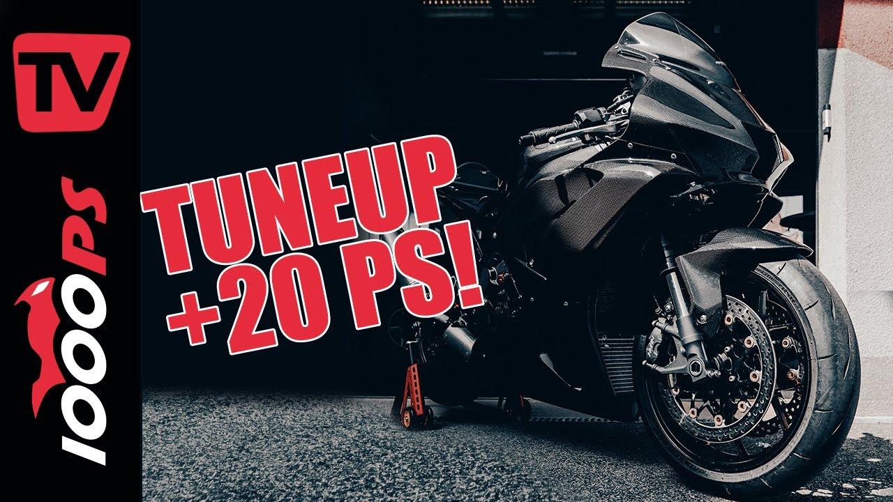 20PS mehr für die RR-R Fireblade! Racebike TuneUp 2021 | Moto2 Fahrwerk, Racing Bremse, Carbonfelgen