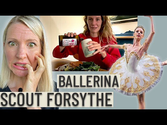 Dietitian Reviews Ballerina Scout Forsythe's Diet (WOW.. This is NOT Enough Food)