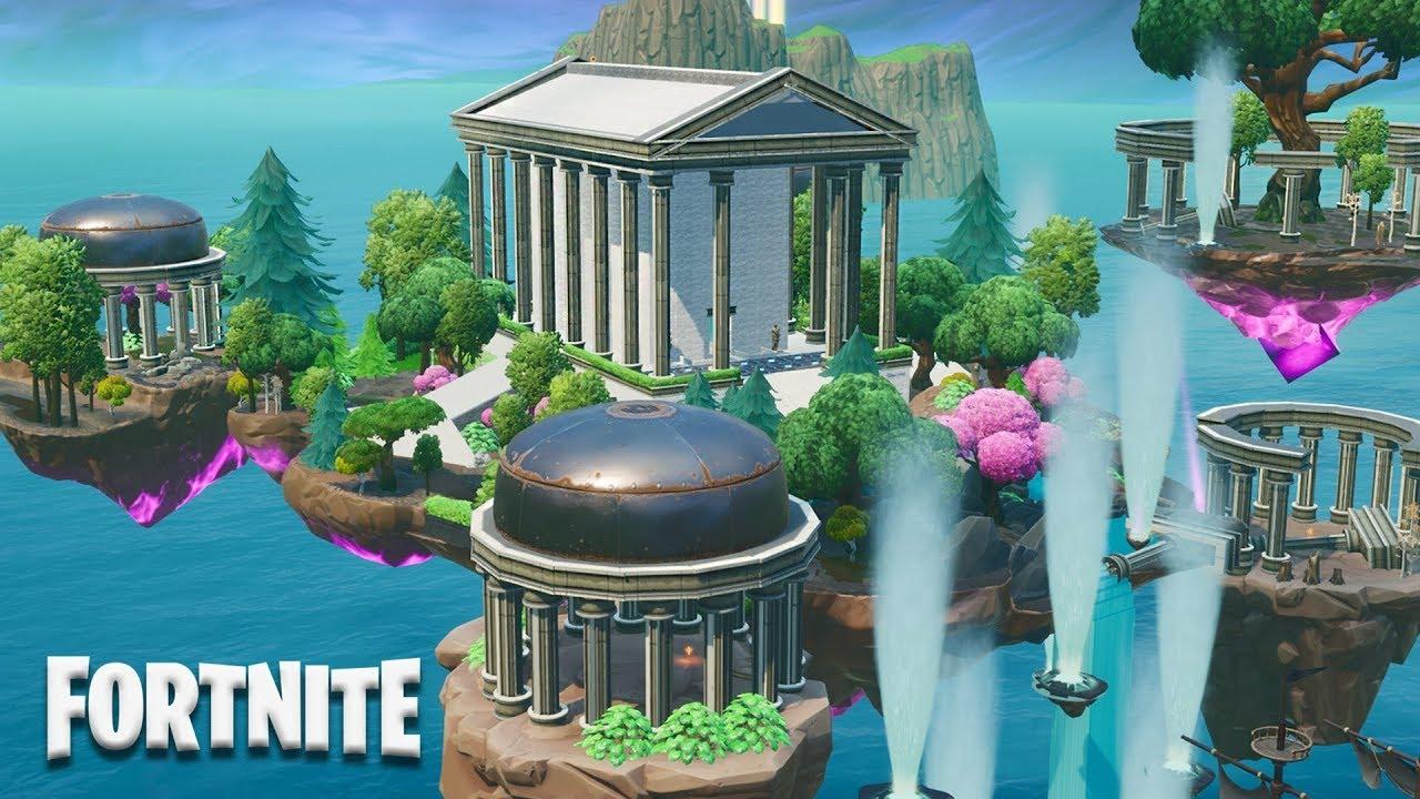 Fortnite Creative - Greek Temple Prop Hunt Map (Speed Build)