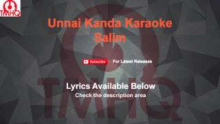 Unnai Kanda Naal Mudhal Karaoke Salim Karaoke