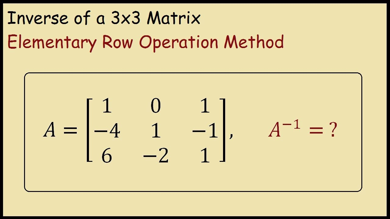 how to find elementary matrices