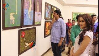 Umesh Shukla and Shweta Khanduri Inaugurate Painting Exhibition 'Man And The Moon'