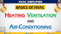 Basics of HVAC - Part 1 (Heating Ventilation & Air Conditioning)(SiMPLiFiED)