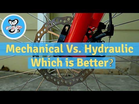 Mechanical vs. Hydraulic Bike Disc Brakes - Braking Test!